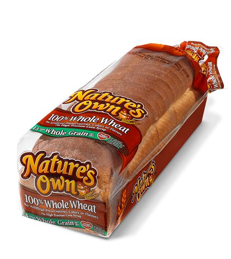 2 whole grain bread calories nature s own wheat bread nutrition facts
