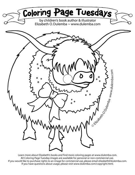 highland cow coloring page free coloring pages of highland cow