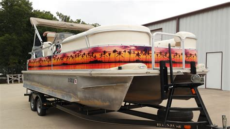 boat wraps pontoon custom pontoon boat paradise wrap car wrap city