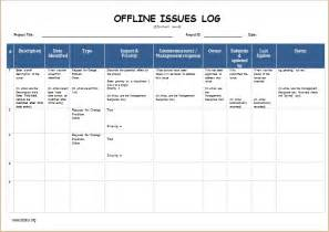 issue log template excel image gallery excel issues