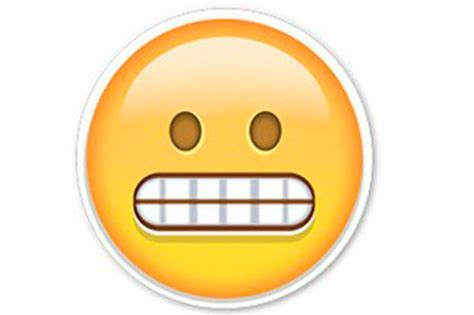 emoji eek apparently the grimace face emoji is actually smiling