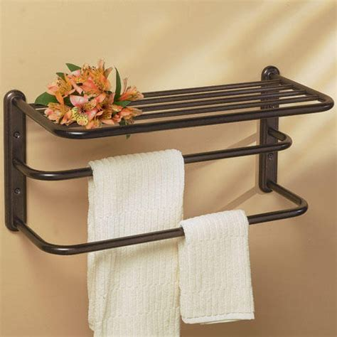 Bathroom Shelf With Towel Bar Home Decorations Bathroom Towel Racks Shelves