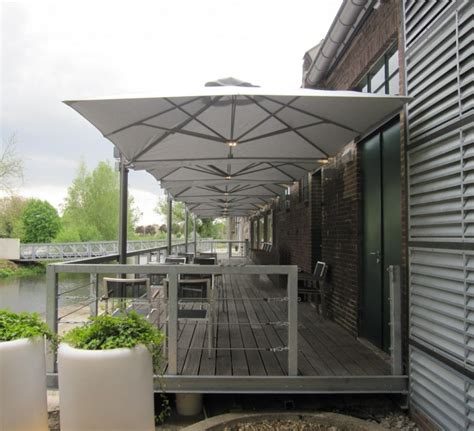 industrial patio umbrellas square commercial umbrellas p6 series shelter outdoor