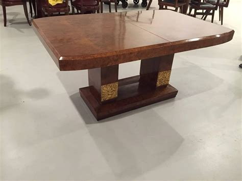 burl amboyna deco dining table for sale at 1stdibs