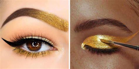 Eyeshadow Gold eye makeup tips how to wear gold eye shadow