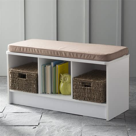 closetmaid storage bench closetmaid cubeicals 3 cube storage bench