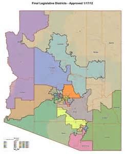 arizona senate district map arizona s legislative elections five districts to