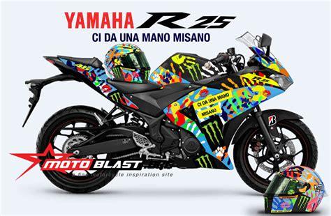 Stiker Striping R Spesial Edition modif striping yamaha r25 special edition misano helmet