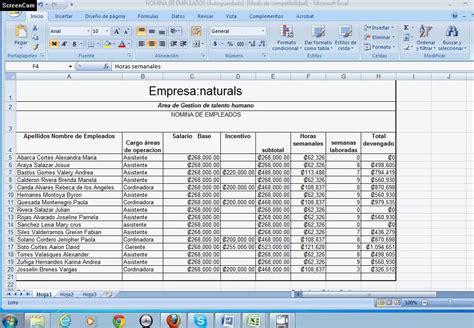 ejemplo de nomina en excel 2013 colombia nmina en colombia share and como liquidar una nomina en