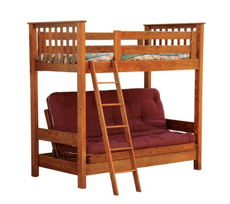 Futon Bunk Bed by Futon Loft Bed Ohio Hardwood Furniture