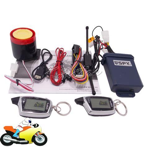 Alarm Motor 5000m 5000m 2 way motorcycle anti theft alarm lcd remote
