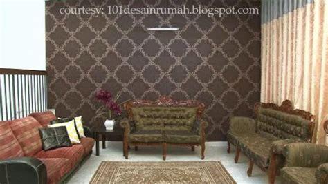 desain rumah ideal memilih wallpaper ruang tamu elegan