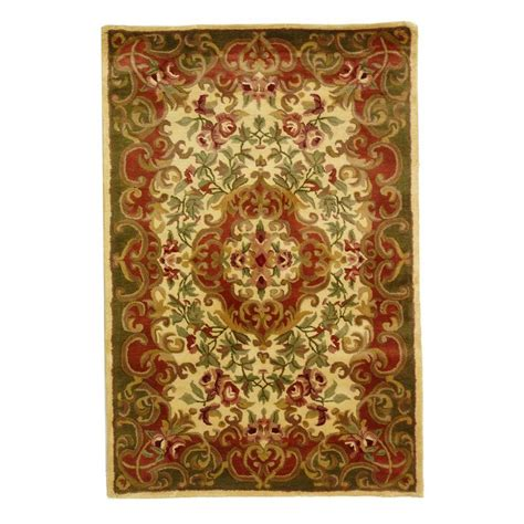 area rug 4 x 6 safavieh classic ivory green 4 ft x 6 ft area rug cl234c 4 the home depot