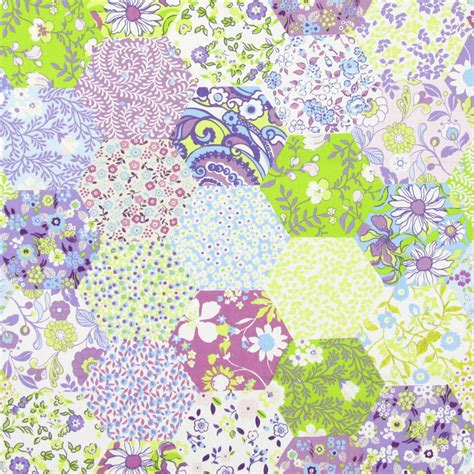 Fabrics For Patchwork - picnic patchwork fabric lavender 5871 805