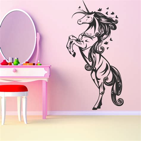 Wall Transfers Stickers vinilos folies vinilo decorativo unicornio