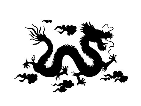 dragon boat clipart black and white silhouette of a chinese dragon free stock photo public