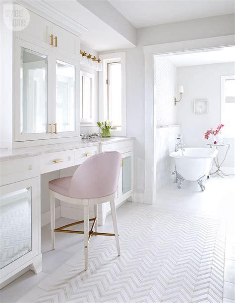 pink and white bathroom a feminine glamorous pink and white bathroom