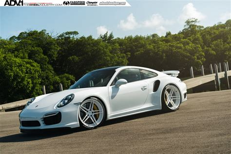 white porsche 911 white porsche 911 turbo s kicks back on adv 1 wheels