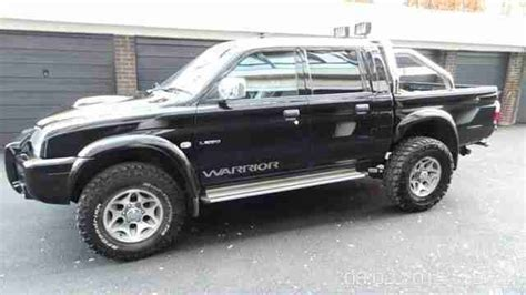 mitsubishi warrior l200 mitsubishi 2003 l200 warrior lwb black car for sale