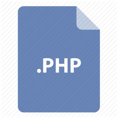 Format File Php | file file extension file format file type php icon