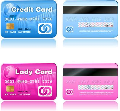 Visa Credit Card Template Vector Realistic Credit Cards Free Vector 13 390 Free