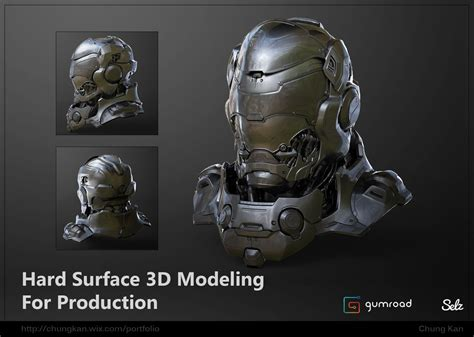 zbrush tutorial gumroad drone bust hard surface 3d modeling for production