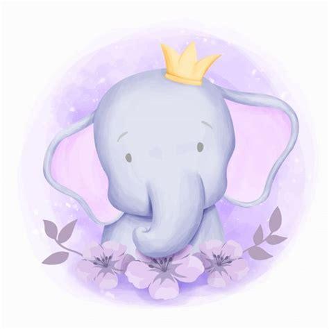 elephant cute portrait watercolor adorable animal
