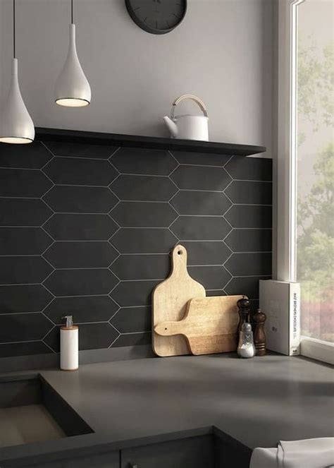 black kitchen tiles ideas 30 matte tile ideas for kitchens and bathrooms digsdigs