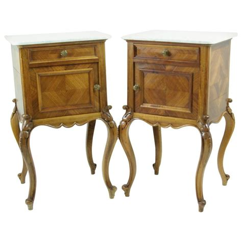 Antique Nightstands With Marble Top by Antique Marble Top Louis Xv Style Nightstands Or