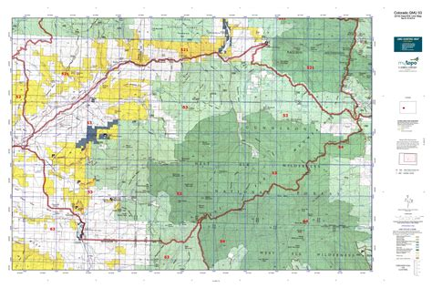 colorado elk unit map colorado gmu 53 map mytopo