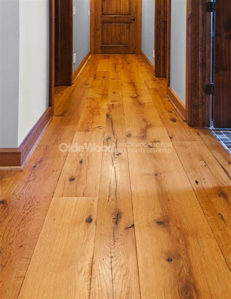 Wide Plank White Oak Flooring   Reclaimed Resawn Oak