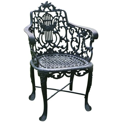 Marked Furniture by Armchair With Lyre Back Marked Robert Wood At 1stdibs