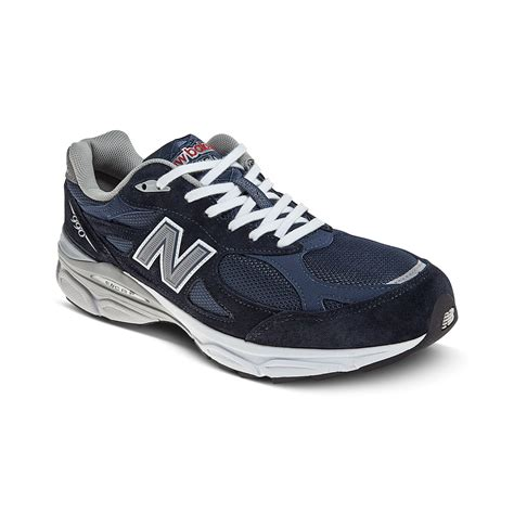 navy athletic shoes new balance m990 running shoes in blue for navy lyst
