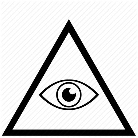illuminati triangle eye border eye frame illuminati triangle icon