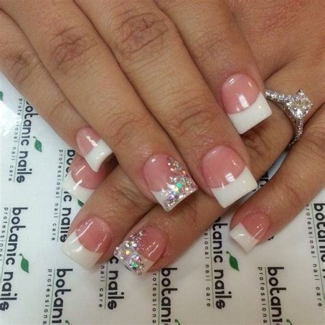 beauty 25 pattern acrylic nail tips french false nail art best 25 white tip nails ideas on pinterest gold tip