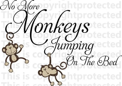 no more monkeys jumping on the bed wall art no more monkeys jumping on the bed wall vinyl design decal