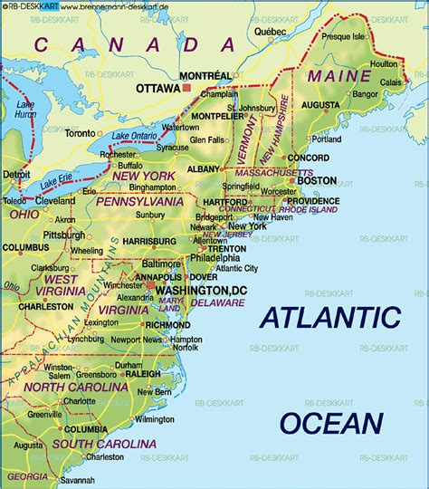 map of northeast coast usa honors american literature and then came the