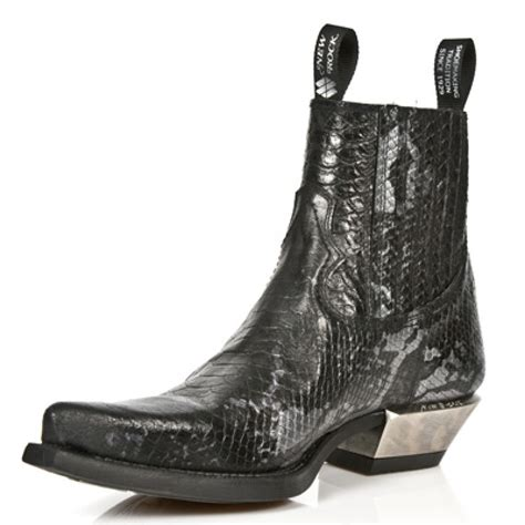 new rock m 7953 c5 faux snakeskin ankle boots