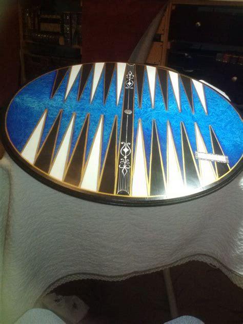 beautiful blue backgammon  marbleousgames  etsy