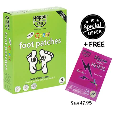 Happy Detox Foot Pads by Happy Foot Patches Box 10 And Free Pack Mozzie Patches