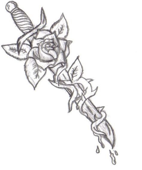 dagger and rose tattoo dagger similar concept dagger with vines no