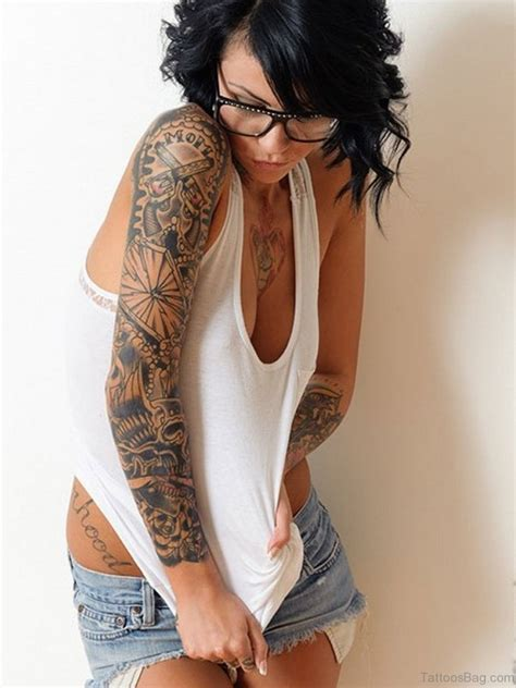female tribal sleeve tattoos sleeve tattoos