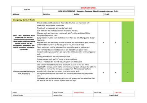 asbestos removal risk assessment