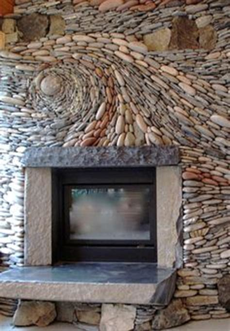 1000 ideas about river rock fireplaces on