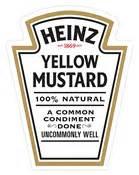 gallery for gt heinz yellow mustard label