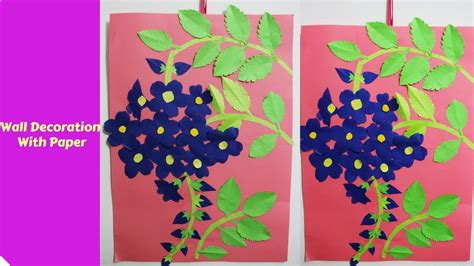 Paper Craft For Wall Decoration - wall decoration with paper creative ideas how to make