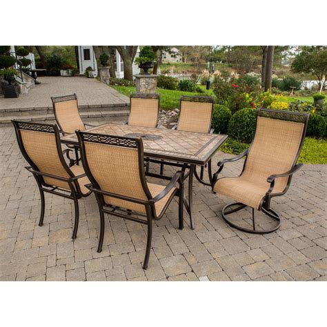 Hton Bay Swivel Patio Chairs Wicker by 7pc Patio Dining Set Hton Bay Clairborne 7 Patio Dining