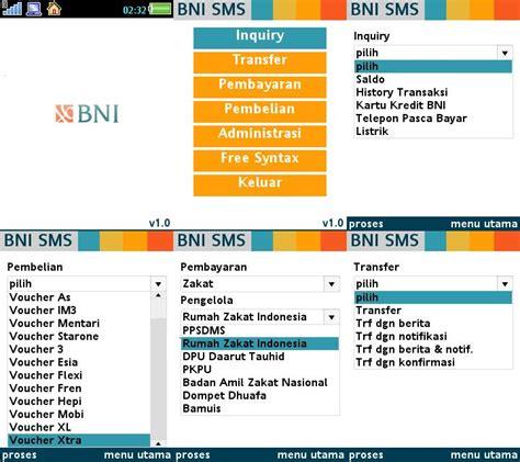 Format Menu Aplikasi Bni Sms Banking | lima aplikasi java mobile banking ib paling ok adjie go