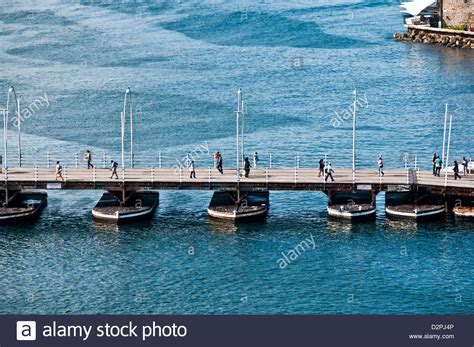 what is a pontoon bridge aerial view of queen emma floating pontoon bridge used for
