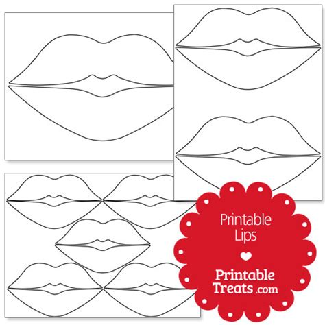 printable mouth templates lip shapes printable treats com